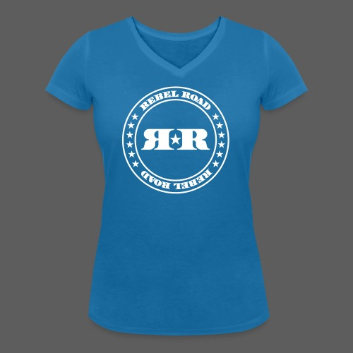 RR White Circle - Women's Organic V-Neck T-Shirt by Stanley & Stella