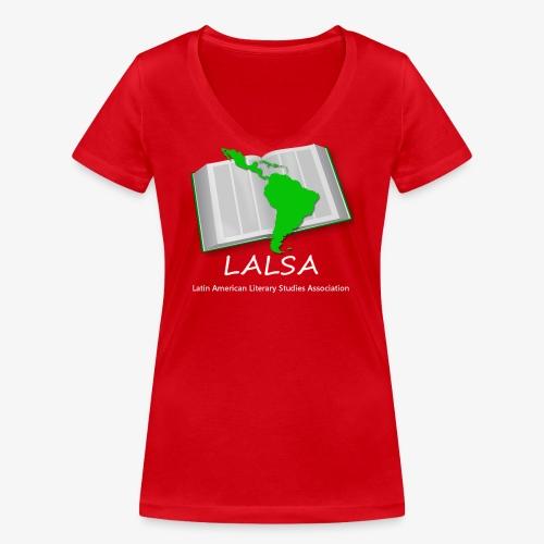 LALSA Light Lettering - Women's Organic V-Neck T-Shirt by Stanley & Stella