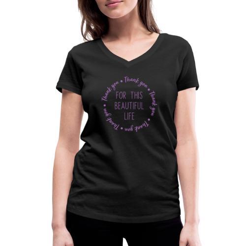 Thank you - Women's Organic V-Neck T-Shirt by Stanley & Stella