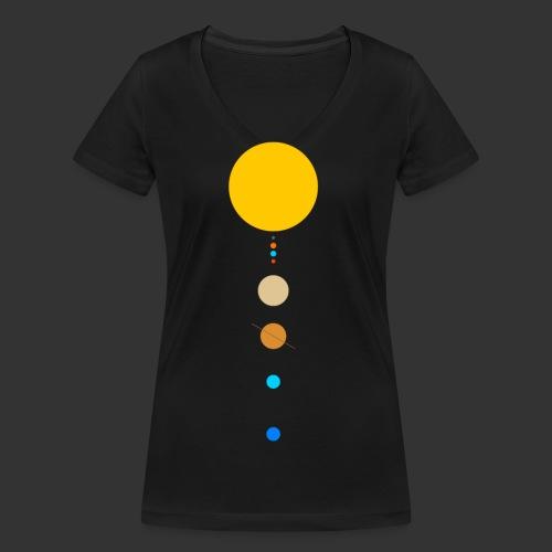 Solar System - Women's Organic V-Neck T-Shirt by Stanley & Stella