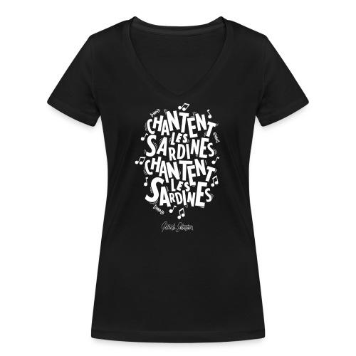 Les Sardines - T-shirt bio col V Stanley & Stella Femme