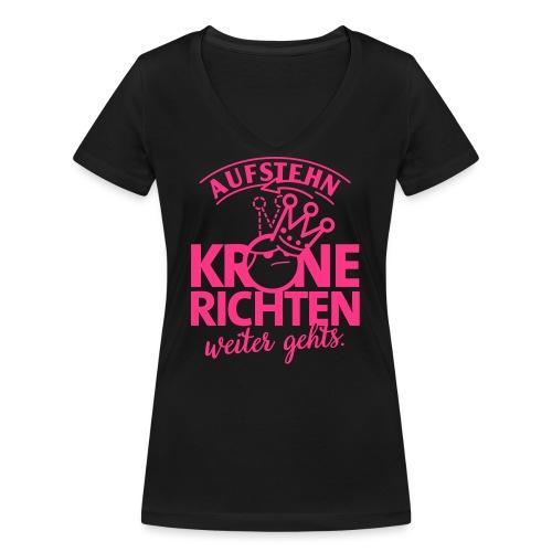 Krone richten - Frauen Bio-T-Shirt mit V-Ausschnitt von Stanley & Stella