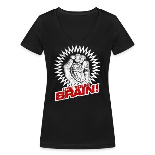 Use Your Brain! - Frauen Bio-T-Shirt mit V-Ausschnitt von Stanley & Stella