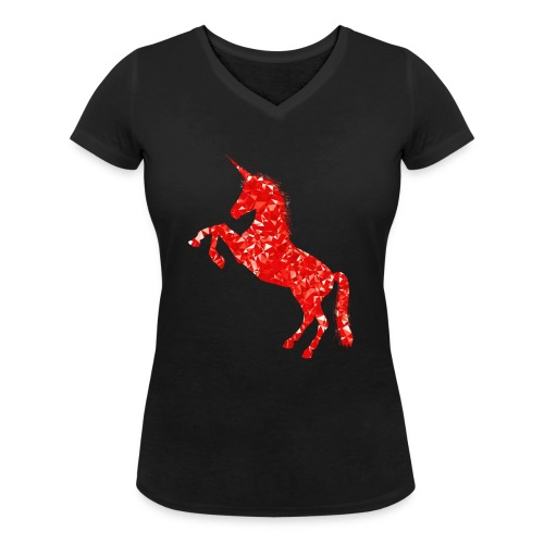 unicorn - Frauen Bio-T-Shirt mit V-Ausschnitt von Stanley & Stella