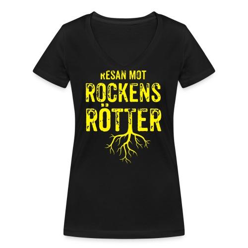 Fotbollströja svart. Resan mot rockens rötter. - Ekologisk T-shirt med V-ringning dam från Stanley & Stella