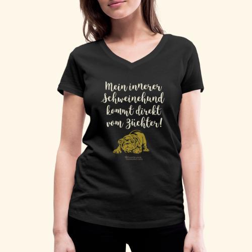 Innerer Schweinehund vom Züchter | Geek T-Shirts - Frauen Bio-T-Shirt mit V-Ausschnitt von Stanley & Stella