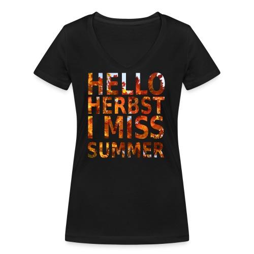 Hello Herbst - Frauen Bio-T-Shirt mit V-Ausschnitt von Stanley & Stella