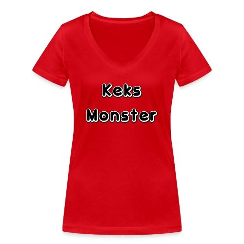 Keks Monster - Frauen Bio-T-Shirt mit V-Ausschnitt von Stanley & Stella
