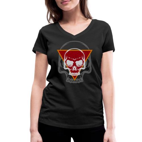 Schädel Skull Skulls Geschenkidee Totenkopf - Frauen Bio-T-Shirt mit V-Ausschnitt von Stanley & Stella