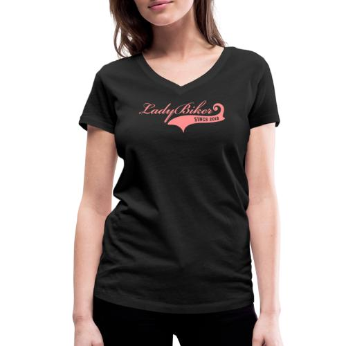 Lady Biker since 2018 - Stanley & Stellan naisten v-aukkoinen luomu-T-paita