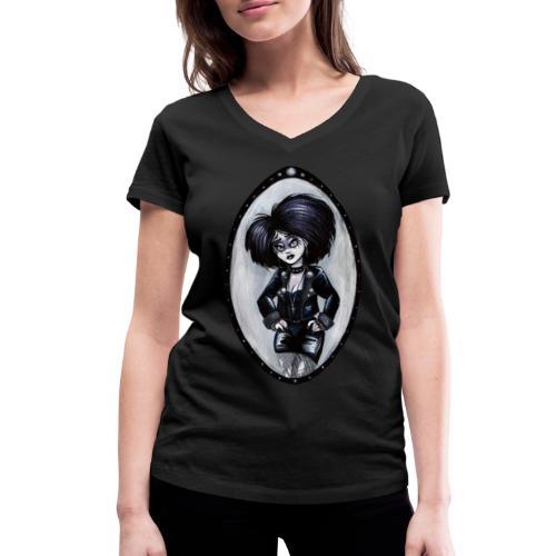 Trad Goth Art by E. R. Whittingham - Women's Organic V-Neck T-Shirt by Stanley & Stella