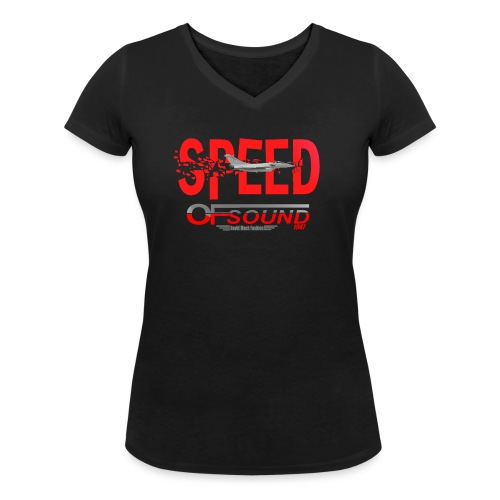 Speed of sound 1947 - T-shirt bio col V Stanley & Stella Femme