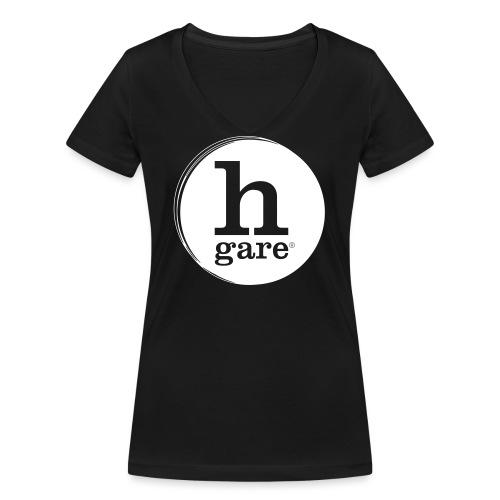 HGARE LOGO TONDO PIENO - T-shirt ecologica da donna con scollo a V di Stanley & Stella