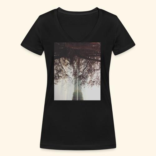 Natura - Ekologiczna koszulka damska z dekoltem w serek Stanley & Stella