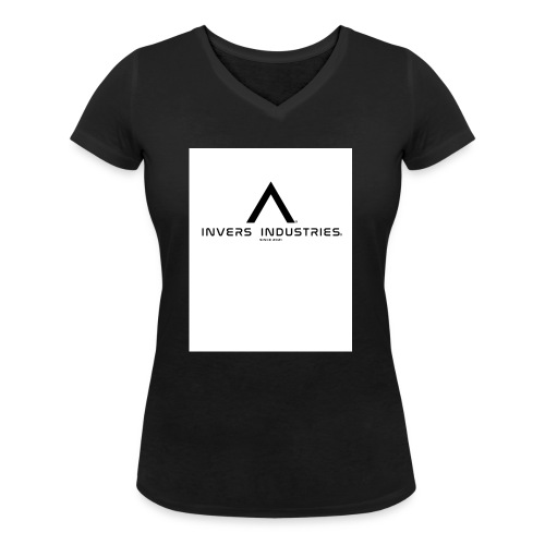 Invers Industries Full White - Women's Organic V-Neck T-Shirt by Stanley & Stella