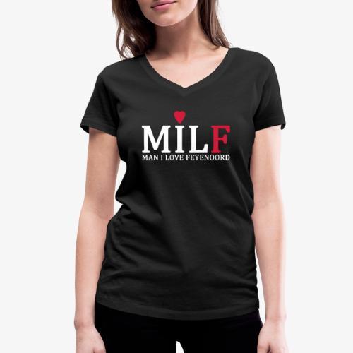 Milf - Vrouwen bio T-shirt met V-hals van Stanley & Stella