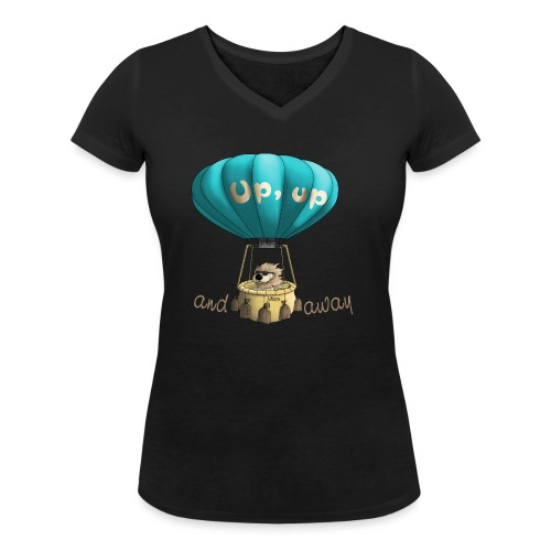 Up up and away - Auf und davon - Frauen Bio-T-Shirt mit V-Ausschnitt von Stanley & Stella