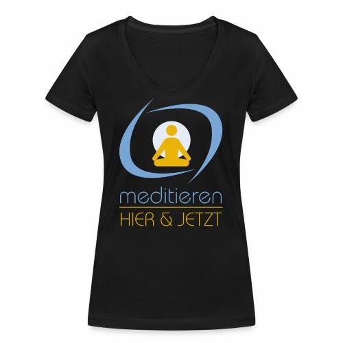 MeditierenHierJetzt.ch - Frauen Bio-T-Shirt mit V-Ausschnitt von Stanley & Stella