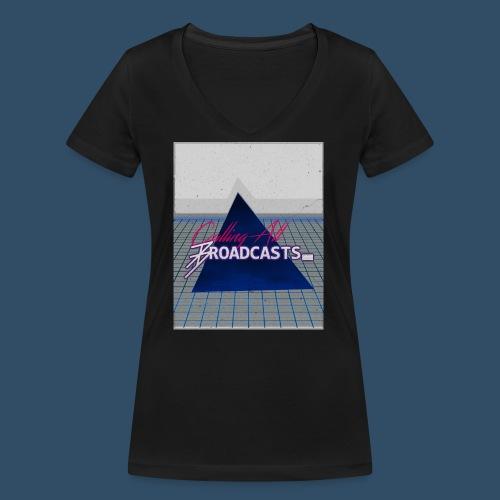 80s Distressed Design - Women's Organic V-Neck T-Shirt by Stanley & Stella