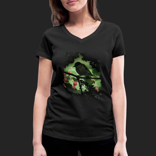 Petit oiseau dans la forêt - T-shirt bio col V Stanley & Stella Femme