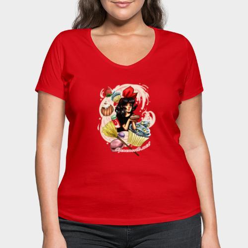 Geneworld - Kiki - T-shirt bio col V Stanley & Stella Femme