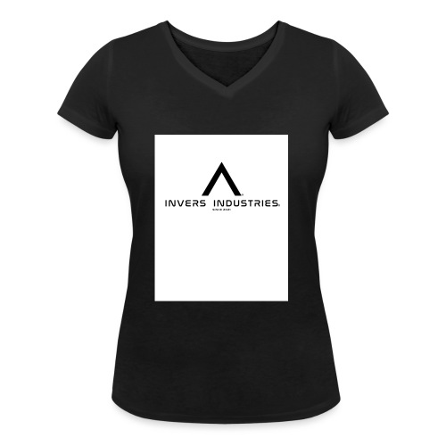 Invers Industries Full White - Women's Organic V-Neck T-Shirt by Stanley & Stella