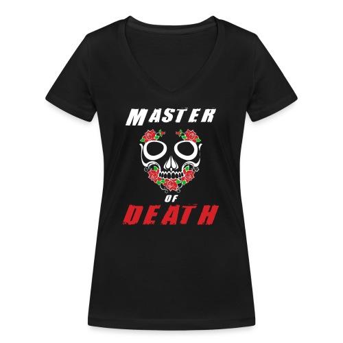 Master of death - white - Ekologiczna koszulka damska z dekoltem w serek Stanley & Stella