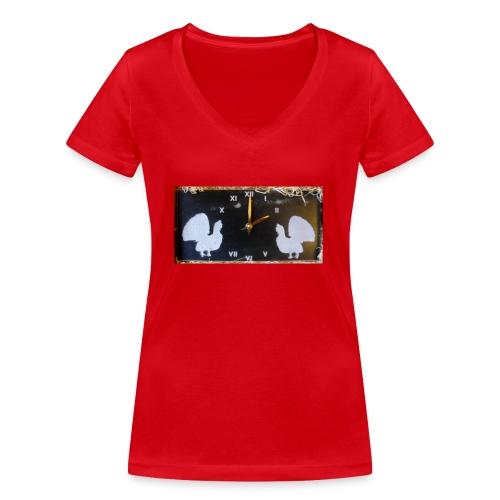 Metsot - Stanley & Stellan naisten v-aukkoinen luomu-T-paita