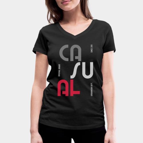 casual wear fashion style - T-shirt bio col V Stanley & Stella Femme