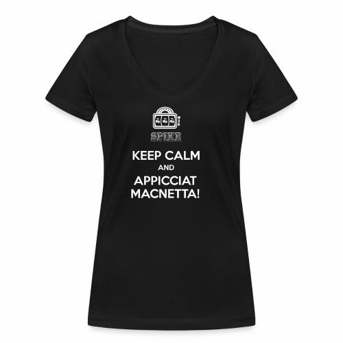 KEEP CALM bianco - T-shirt ecologica da donna con scollo a V di Stanley & Stella