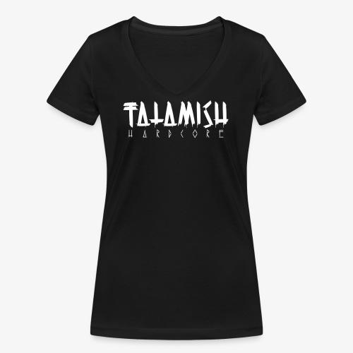 Fatamish Logo Classic - Frauen Bio-T-Shirt mit V-Ausschnitt von Stanley & Stella