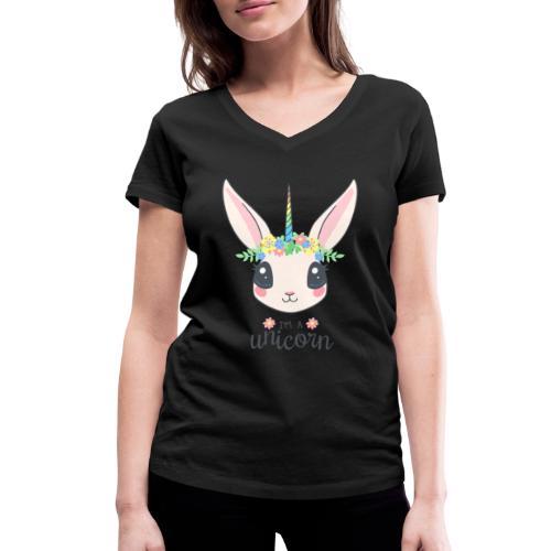 I am Unicorn - Frauen Bio-T-Shirt mit V-Ausschnitt von Stanley & Stella