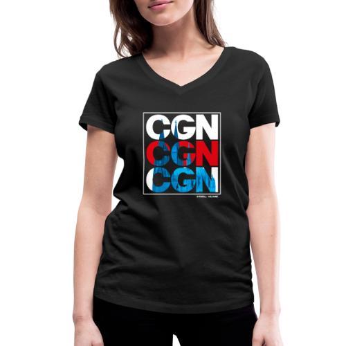 CGN x3 - Frauen Bio-T-Shirt mit V-Ausschnitt von Stanley & Stella