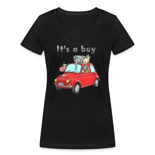 It's a boy - Baby - Cartoon - lustig - Frauen Bio-T-Shirt mit V-Ausschnitt von Stanley & Stella