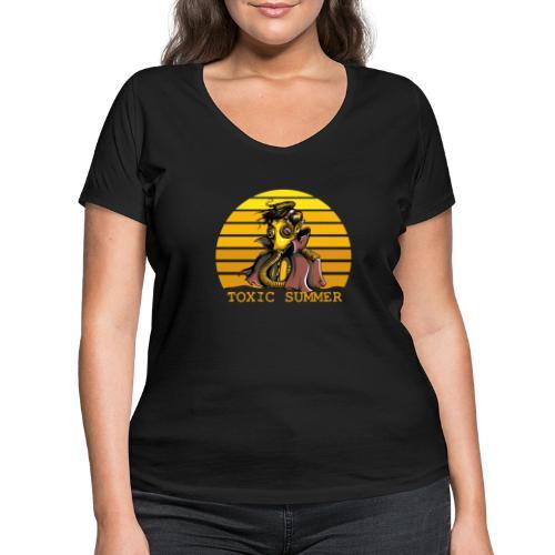 Toxic Summer - Camiseta ecológica mujer con cuello de pico de Stanley & Stella