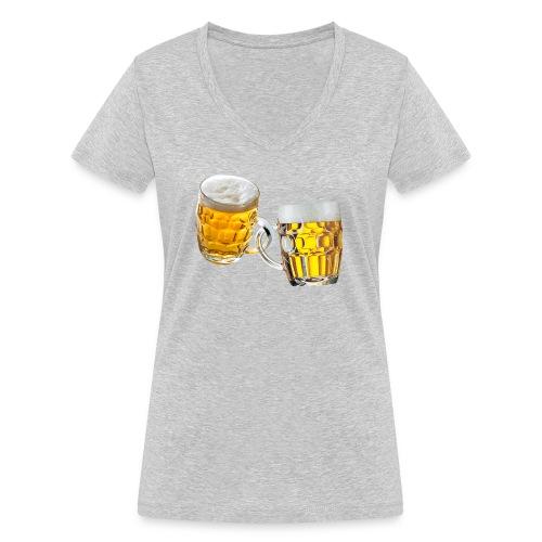 Boccali di birra - T-shirt ecologica da donna con scollo a V di Stanley & Stella