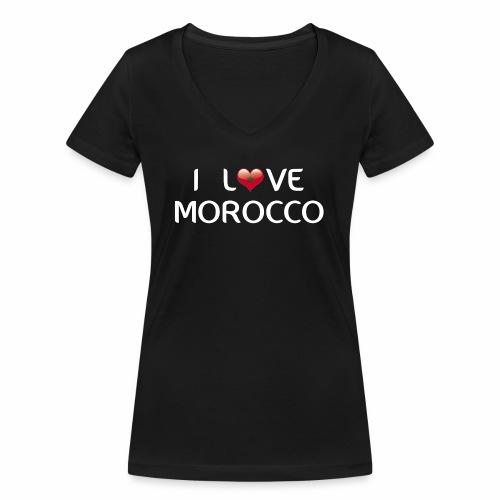 i_love_morocco - T-shirt bio col V Stanley & Stella Femme