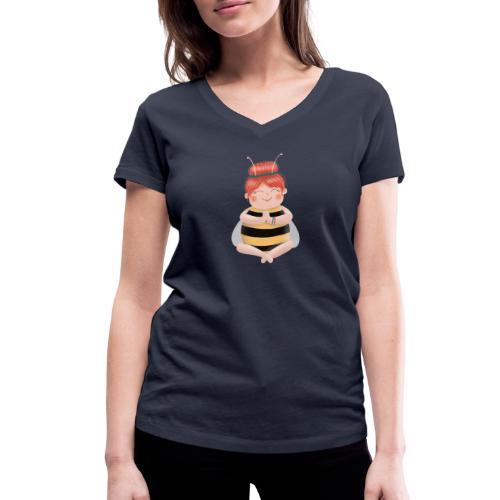 Biene am Meditieren - Frauen Bio-T-Shirt mit V-Ausschnitt von Stanley & Stella