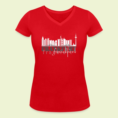FFM - Frankfurt Skyline - Frauen Bio-T-Shirt mit V-Ausschnitt von Stanley & Stella