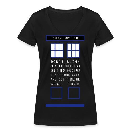 Doctor Who Don t blink - T-shirt ecologica da donna con scollo a V di Stanley & Stella