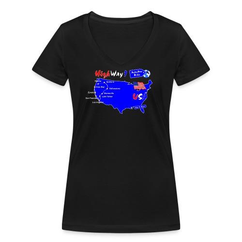 HighWay1-01 - Stanley & Stellan naisten v-aukkoinen luomu-T-paita