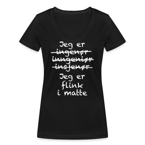 Flink i matte - Økologisk T-skjorte med V-hals for kvinner fra Stanley & Stella