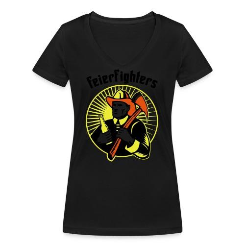 feierfighters - Frauen Bio-T-Shirt mit V-Ausschnitt von Stanley & Stella