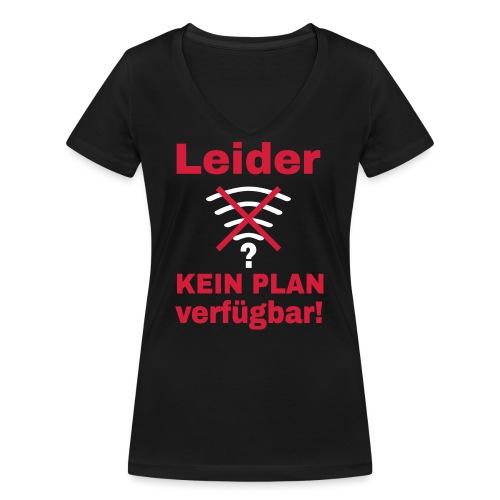 Wlan Nerd Sprüche Motiv - Frauen Bio-T-Shirt mit V-Ausschnitt von Stanley & Stella