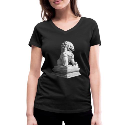 Fu Hund Tempelwächter Wächterlöwe Buddha China - Frauen Bio-T-Shirt mit V-Ausschnitt von Stanley & Stella
