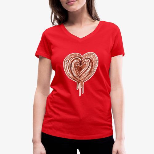 muscular pump transp - Women's Organic V-Neck T-Shirt by Stanley & Stella