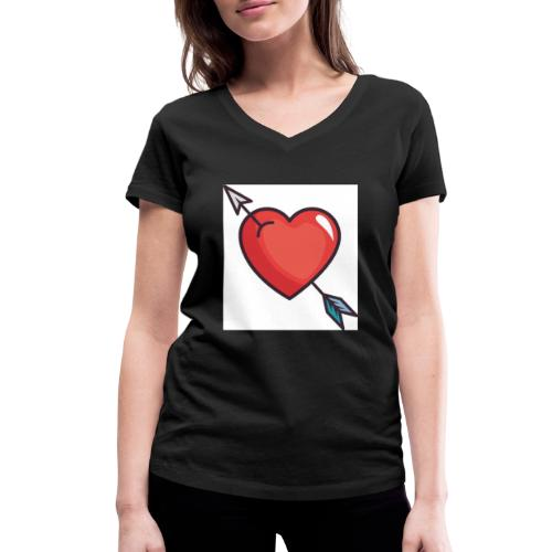 Emoji Team logo - Women's Organic V-Neck T-Shirt by Stanley & Stella