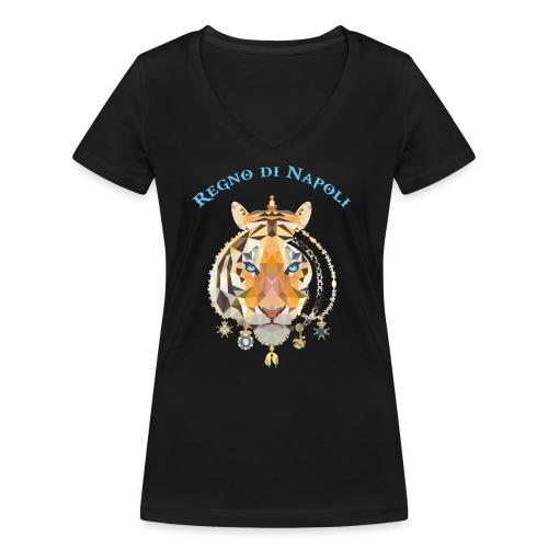 regno di napoli tigre - T-shirt ecologica da donna con scollo a V di Stanley & Stella