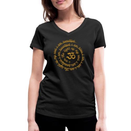 Yoga Mantra Fashion I am the light of my soul - Frauen Bio-T-Shirt mit V-Ausschnitt von Stanley & Stella
