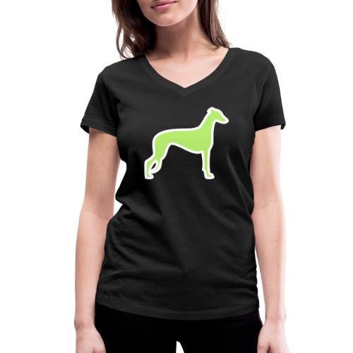 Greyhound - Frauen Bio-T-Shirt mit V-Ausschnitt von Stanley & Stella